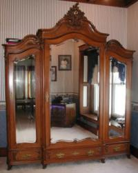 Antique French Triple Armoire Louis XV Style