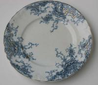 Mellor Etruria Myrtle blue and white porcelain plate