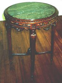 Antique French marble top table