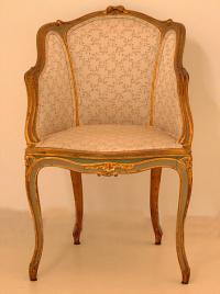 Antique French Bergere gilt wood C1880