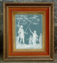Villeroy Boch Mettlack antique porcelain plaque