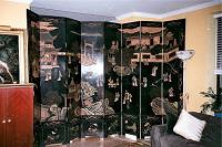 Vintage Coromandel Chinese Lacquer screen 8 panel