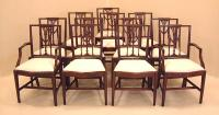Antique American Federal dining chairs in mahogany set of 12