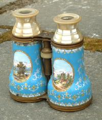 Antique Pair of French opera glasses with inlay
