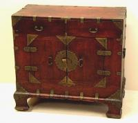 Antique Chinese chest with brass trim c1800