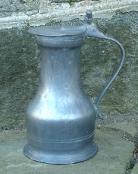 Antique French Normandy pewter Flagon c1780 to 1820