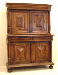 Antique French walnut cupboard