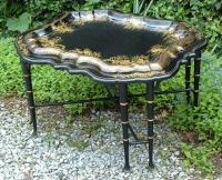 Antique French Papier Mache Coffee Table