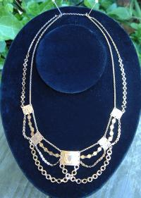 Antique French Gold Slave Necklace
