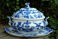 Antique Meissen Porcelain Three Piece Tureen