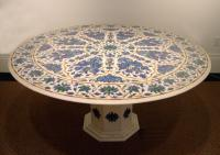 Inlaid India marble Lapis Malachite dining table