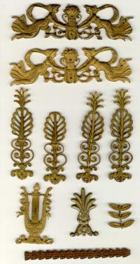 Period French bronze decorative furniture hardware
