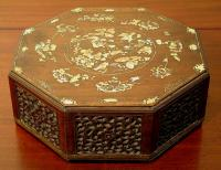 Antique Annamese jewelry box with inlay