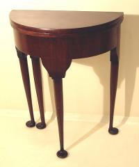Georgian style pad foot card table in mahogany c1880