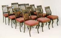 Set Gothic Revival Joseph Meeks dining chairs
