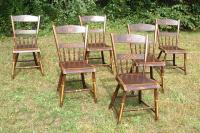 Antique Country Sheraton painted chairs