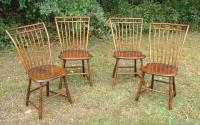 Antique American rod back Windsor chairs c1800