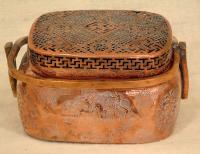 Antique Chinese bronze foot warmer
