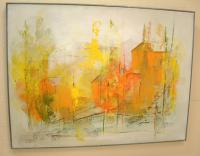 Modern Art abstract landscape painting Harry Day Essex CT