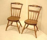Antique Pair Country Sheraton Chairs c1820