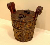 Antique Chinese Carved Coal Bucket