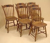 Antique painted Eagle Sheraton country chairs
