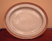 Chinese export orange peel platter c1820 to1830