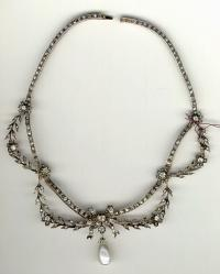 French Empire diamond gold necklace c1850