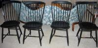 Set four Setback Windsor chairs c1800