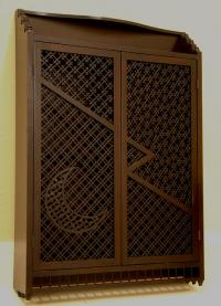 Japanese wood wall cabinet c1890