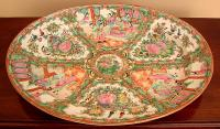 Antique Chinese export Rose Medallion platter
