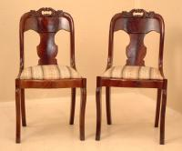 Antique American Victorian Empire Side Chairs