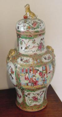 Pair Chinese Export Rose Medallion medallion urns