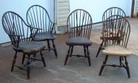 Set  American Windsor chairs c1775