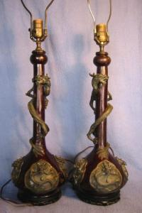 Antique Chinese bronze vase Lamps