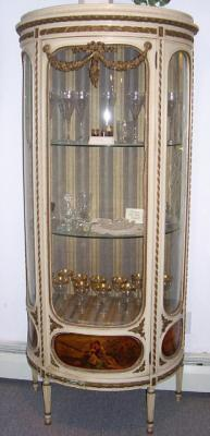 Antique French vitrine display cabinet c1890