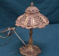 French bronze lamp c 1920