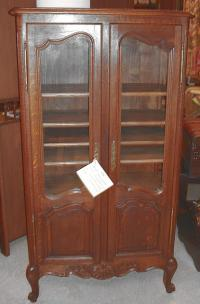 French provincial bibliotheque or book cabinet c1860