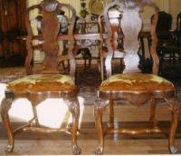 Set of eight Dutch antique dining chairs c1900