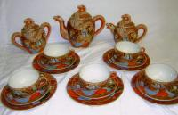 Japanese  hand painted tea set Gemchina