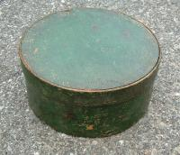 Early green painted pantry box c1800