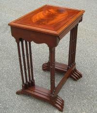 Schmeig and Kotzian mahogany stacking tables