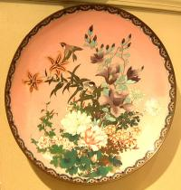 Japanese Meiji Cloisonne charger c1890