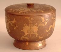 Edo Gold Lacquer Japanese bowl and dipper