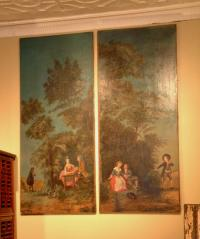 Pair of 18thC Continental landscape Paintings
