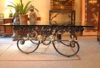 French cast iron bakers coffee table c1900
