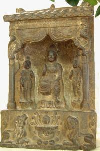 Chinese Buddhist Stelle stone carving A. D. 557 581