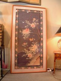 Chinese Kossu panel framed c1880