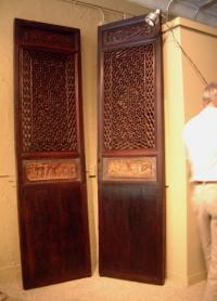Pair of Antique Chinese open work doors c1800