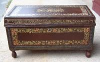 Chinese Trade Camphorwood leather trunk c1800